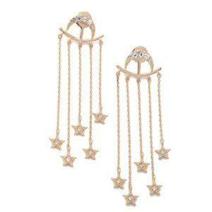 3/$30 Gold Color Moon Star Earrings
